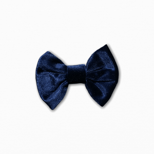 Velvet Solid Navy Bow