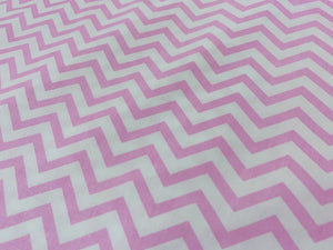 Light Pink And White Chevron | Cheap Online Fabric Australia