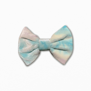 Velvet Tie Die Purple Blue Pastel Bow