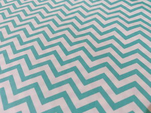 Mint And White Chevron