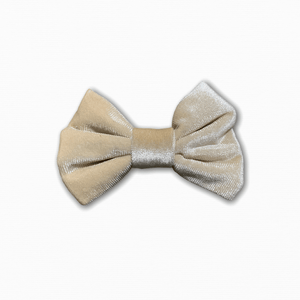 Velvet Solid Cream Bow