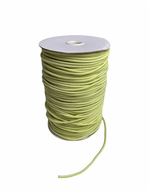 3mm Yellow Round Cord Elastic - Roll 100 Metres