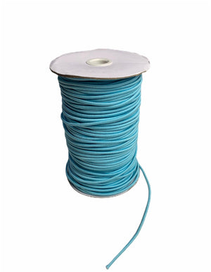 3mm Light Blue Round Cord Elastic - Roll 100 Metres