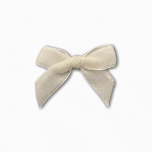 Small Velvet White Bow