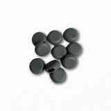 Silicone Beads - Dark Grey (10 pack)