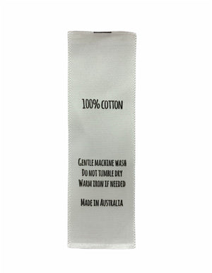 Care Labels For 100% Cotton - Made in Australia