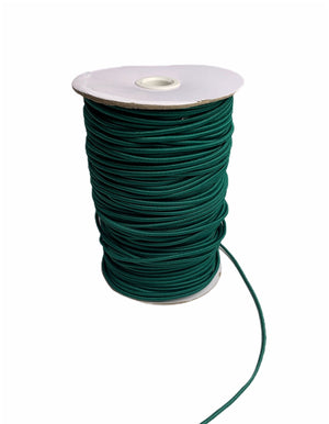 3mm Dark Green Round Cord Elastic - Roll 100 Metres