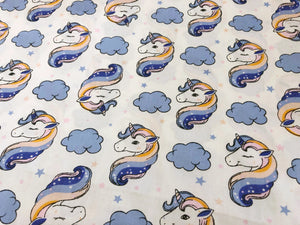 Unicorns and Clouds Blue