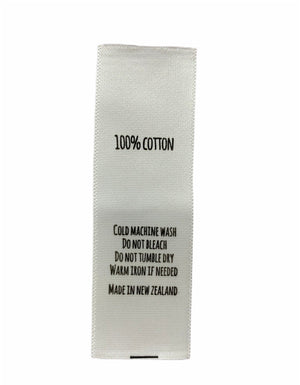 Care Labels For 100% Cotton - Made in New Zealand | Cotton Fabric