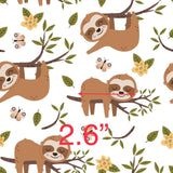 Sleeping Sloths 1 - Woven Cotton