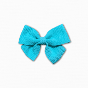 Bullet Fabric Solid Aqua Bow | Buy Fabric Online Australia