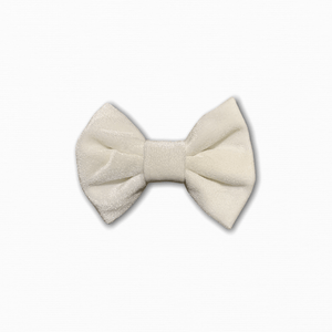 Velvet Solid White Bow