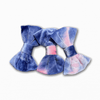 Velvet Tie Die Purple Pink Bow