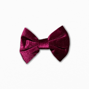 Velvet Solid Burgundy Bow