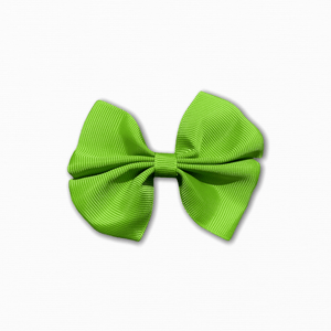 Grosgrain Pinwheel Lime Green Bow | Online Fabric Shops Australia