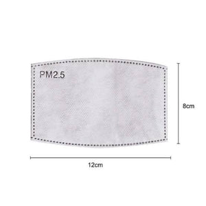 Adult Size PM 2.5 Activated Carbon Mask Filters | Online Fabric Store