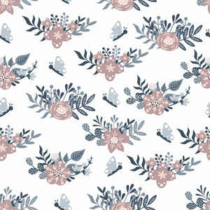 Floral Moon Rainbows 6 - Woven Cotton