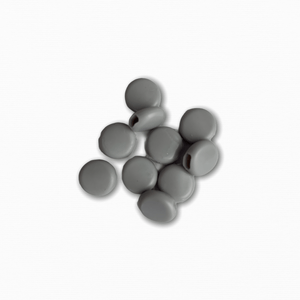 Silicone Beads - Grey (10 pack)