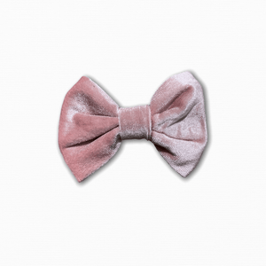 Velvet Solid Dusty Pink Bow