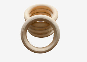 70mm Wooden Rings (5pk) | Cheap Online Fabric Australia