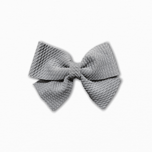 Bullet Fabric Solid Grey Bow | Buy Quality Fabric Online Australia