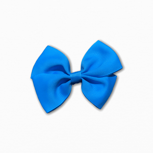 Grosgrain Pinwheel Mid Blue Bow | Online Fabric Shopping Australia