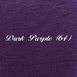 Solid Dark Purple French Terry