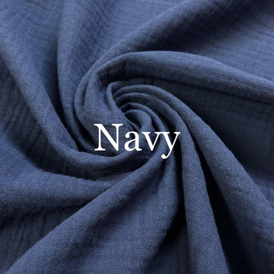 Navy Double Gauze