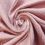 Blush Double Gauze | Best Online Fabric Store Australia