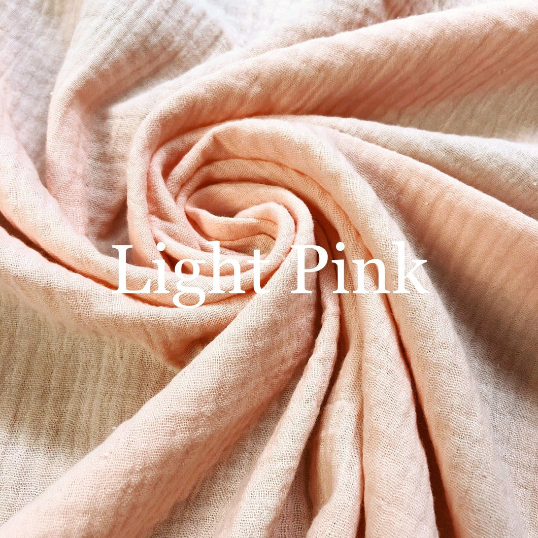 Pre-Order Light Pink Double Gauze