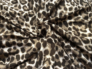 Light Brown Leopard Single Brushed Poly