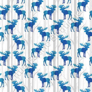 Pre-Order LFB Blue Watercolour Mooses