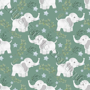 Elephants - Woven Cotton
