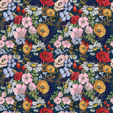 Wendy Floral Navy - Woven Cotton