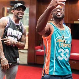 Dwayne Wade Jackie Moon Flint Tropics Semi Pro Movie Jersey in Miami Heat Locker room
