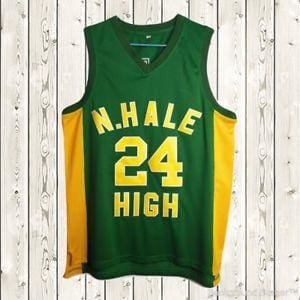 Bruno Mars #24 N. Hale High Jersey BET Awards Basketball Jersey - HaveJerseys
