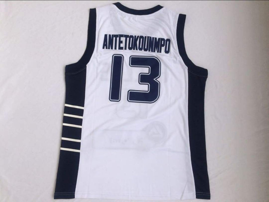 Giannis Greece Throwback Basketball Jersey