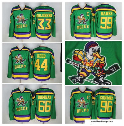 Greg Goldberg #33 The Mighty Ducks Hockey Movie Jersey, Jersey, HaveJerseys, HaveJerseys, 2018 throwback retro vintage movie sports basketball baseball football hockey college highschool jerseys, jersey plug, movie jerseys