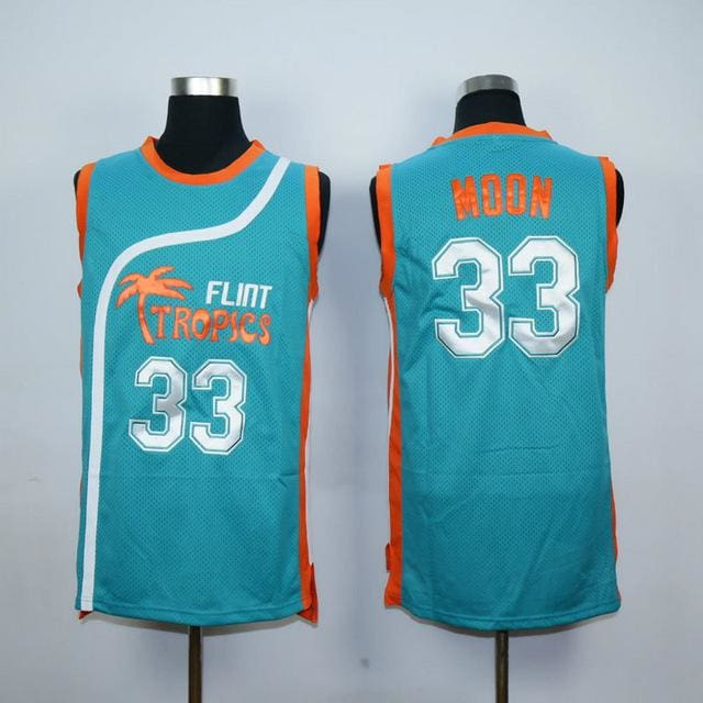 HJ™ Jackie Moon #33 Flint Tropics Semi-Pro Movie Jerseys