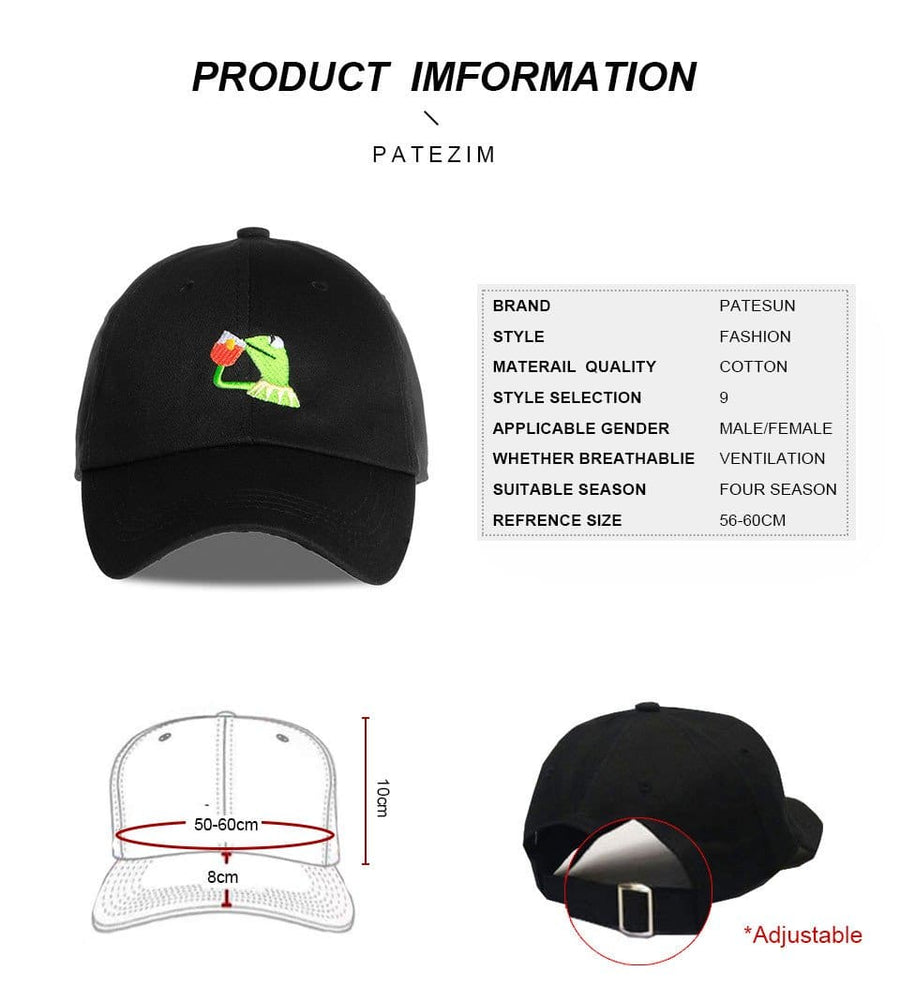 HJ™ LeBron James - None Of My Business - Kermit The Frog Sipping Tea Troll Strapback Hat