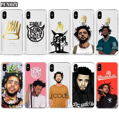 J. Cole Born Sinner Cartoon Phone Cases For iPhone, hiphopphonecase, HaveJerseys, HaveJerseys, 2018 throwback retro vintage movie sports basketball baseball football hockey college highschool jerseys, jersey plug, movie jerseys