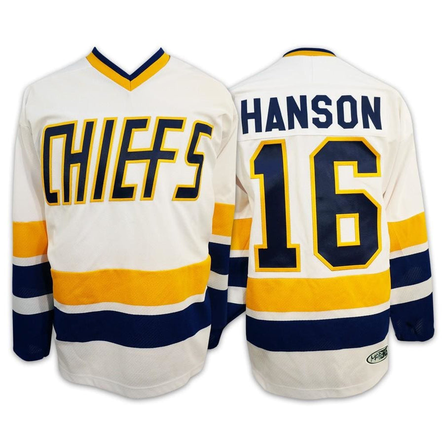 Jack Hanson #16 Hanson Brothers Charlestown Chiefs Slapshot Movie Jersey