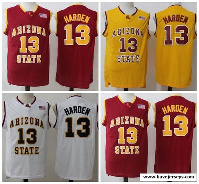 James Harden #13 Arizona State College Jersey, Jersey, HaveJerseys, HaveJerseys, 2018 throwback retro vintage movie sports basketball baseball football hockey college highschool jerseys, jersey plug, movie jerseys