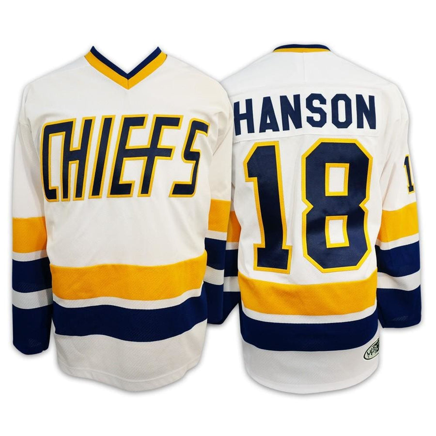 Jeff Hanson #18 Hanson Brothers Charlestown Chiefs Slapshot Movie Jersey