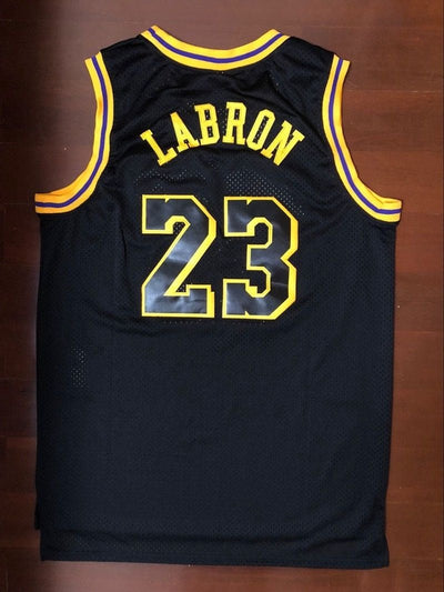 LABRON #23 - LeBron James LA Lakers Black Basketball Jersey, Jersey, HaveJerseys, HaveJerseys, 2018 throwback retro vintage movie sports basketball baseball football hockey college highschool jerseys, jersey plug, movie jerseys