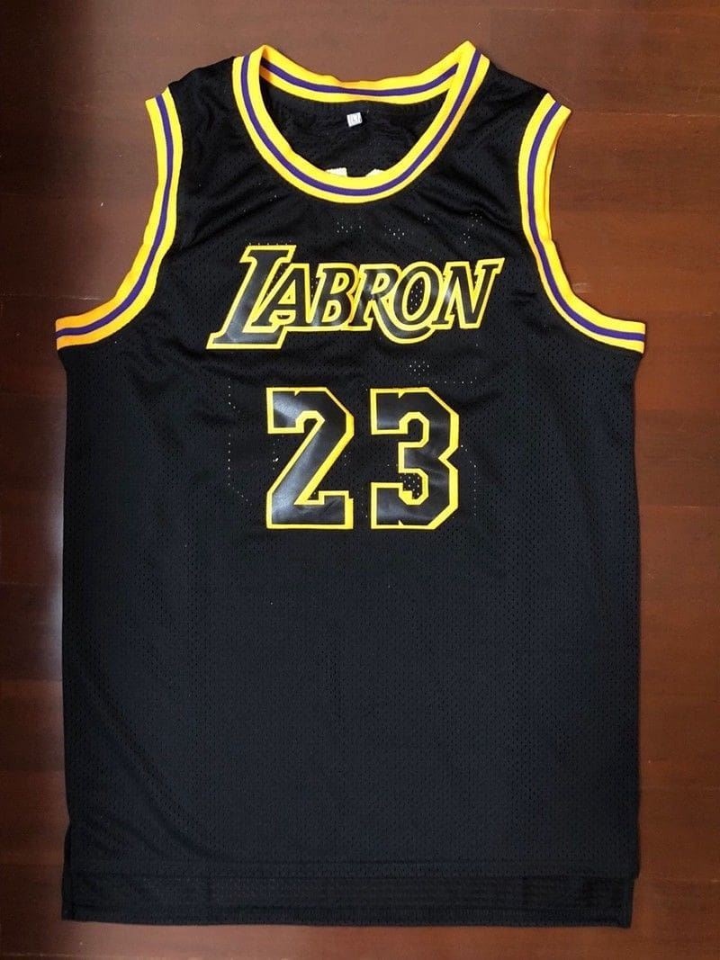 LABRON #23 - LeBron James LA Lakers Black Basketball Jersey