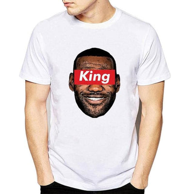 "LeBron James ""KING"" Head T-Shirt, shirt, HaveJerseys, HaveJerseys, 2018 throwback retro vintage movie sports basketball baseball football hockey college highschool jerseys, jersey plug, movie jerseys"