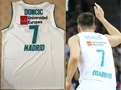 Luka Doncic #7 Real Madrid Euro League Champion MVP Jersey, basketball, HaveJerseys, HaveJerseys, 2018 throwback retro vintage movie sports basketball baseball football hockey college highschool jerseys, jersey plug, movie jerseys