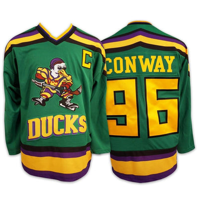 Mighty Ducks #96 Charlie Conway Official Movie Jersey, Jersey, HaveJerseys, HaveJerseys, 2018 throwback retro vintage movie sports basketball baseball football hockey college highschool jerseys, jersey plug, movie jerseys