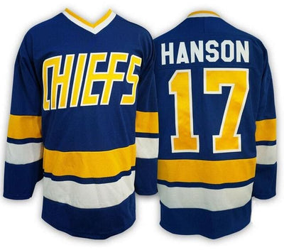 Steve Hanson #17 Hanson Brothers Charlestown Chiefs Slapshot Movie Jersey, Jersey, HaveJerseys, HaveJerseys, 2018 throwback retro vintage movie sports basketball baseball football hockey college highschool jerseys, jersey plug, movie jerseys